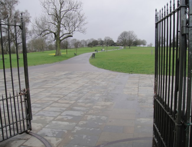Gates to Brockwell Park