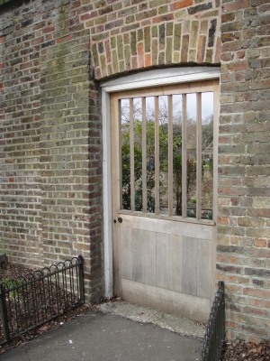 old entrance to walled garden at brockwell park