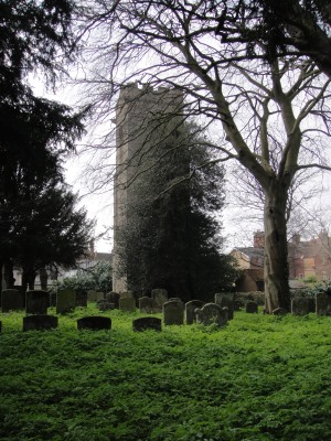 St Mary Magdalene Church tower and graveyard