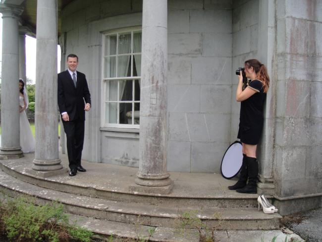 Photo shoot for Classic Veils with Fiona