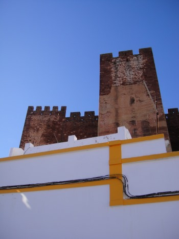 View of Silves Castle turets