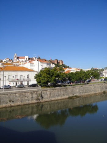 View of Silves with Arade River