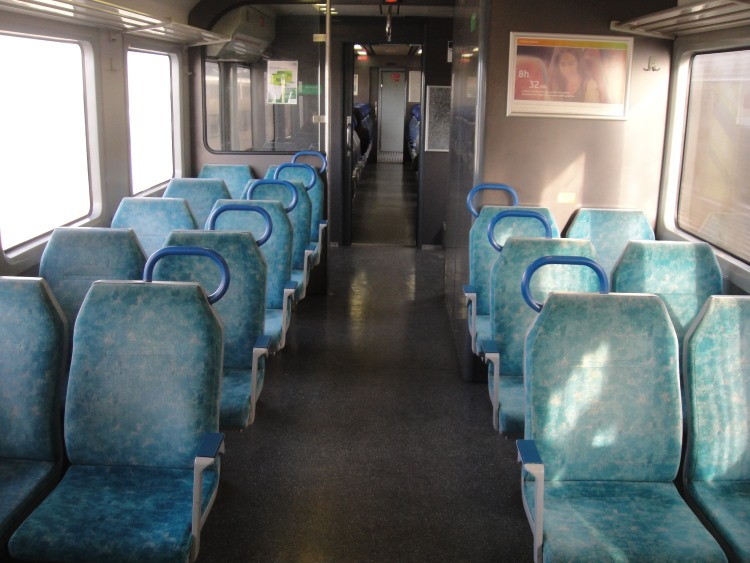 interior view of train at Faro