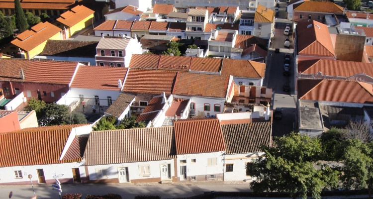 overlooking Silves tile roofs