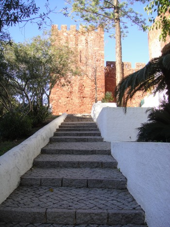stairway leading up to Silves Castle