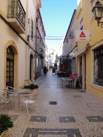 tiled street in Silves