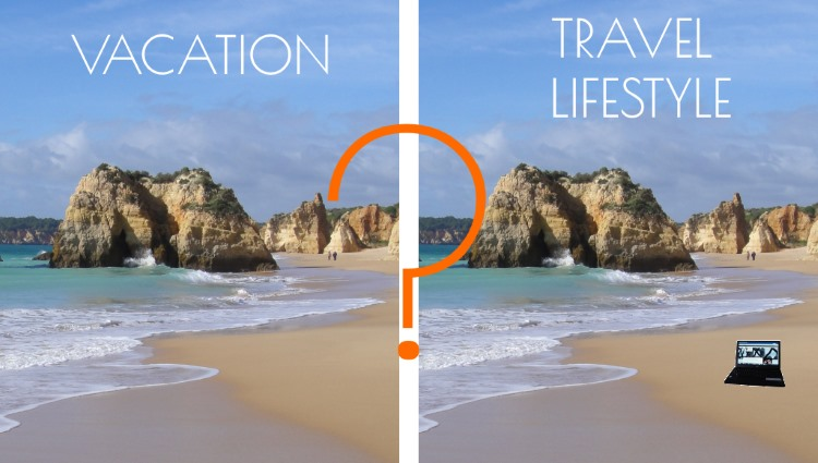 vacation vs travel lifestyle